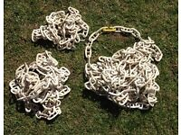 White Plastic chain lengths for sale (2, 4 & 8 meters)