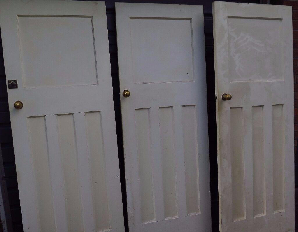 5 x reclaimed vintage 1930s i over 3 panel internal doors for 1 over 3 panel door