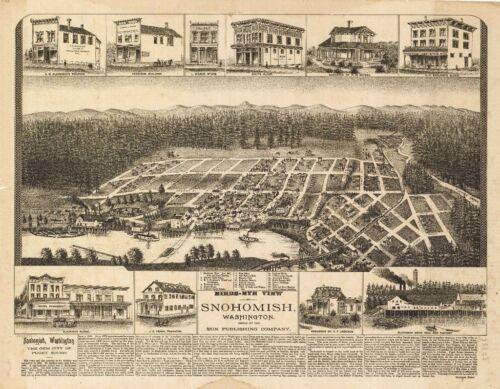 WASHINGTON VINTAGE PANORAMIC MAPS COLLECTION ON CD