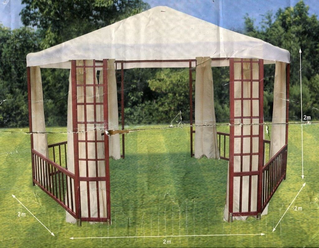 Two Balmoral Hardwood Gazebos New Unused Cost 163 400 New