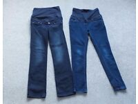 Maternity over the bump jeans size 10
