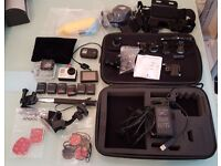 GoPro Hero 3 Black Edition Camera with many accessories