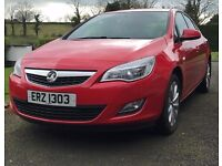 Vauxhall Astra 2012 1.4L Active Power Red