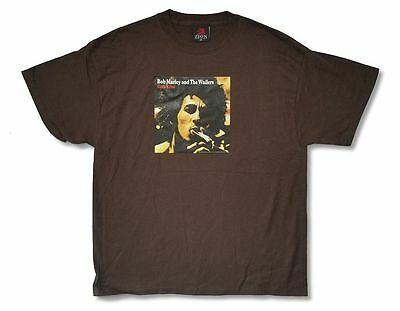 Bob Marley Catch A Fire Album Cover Art Image Brown T Shirt New Official Bob Marley Tee Shirts