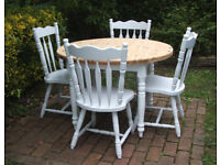Vintage - Dining Table and 4 Chairs - Shabby Chic