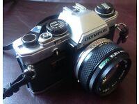 Olympus OM10 35mm Film Camera with Zuiko 1.8 50mm Lens