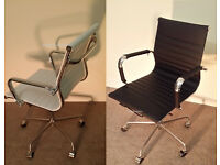 NEW EAMES BLACK OR WHITE RIBBED OFFICE CHAIRS BOARDROOM RECEPTION CHAIRS FREE DELIVERY