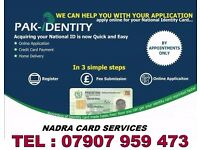 PAKISTAN OVERSEAS NADRA CARD APPLICATION SERVICE