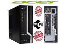ACER 4GB 320GB DVD Fast Windows 7 Pro 64 bit Desktop PC Computer Base Unit