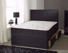 Can Deliver Today Double Bed Two Drawers 25cm Big Mattress Headboard BRANDNEW Factory Wrapped