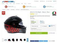 AGV K-3 SV Myth - Black / Red Motorcycle Helmet
