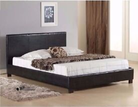 🌷💚🌷 3FT SINGLE 4FT6 DOUBLE 5FT KING SIZE 🌷💚🌷 HIGH QUALITY FAUX LEATHER BED FRAME - BRAND NEW