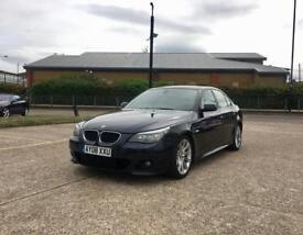 2008 BMW 5 SERIES 520D M-SPORT AUTO –WARRANTED MILEAGE, BLACK, Diesel, Automatic, MOT, Fully Loaded