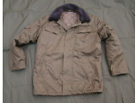 East German Army NVA DDR / Quilted Winter Combat Jacket (Size Large)
