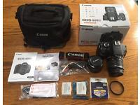 Canon 600D DSLR Camera w/ 18-55 IS Lens + 50mm 1.8 II Lens + Canon Case + Extras