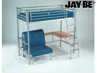 Cabin bed high sleeper with desk