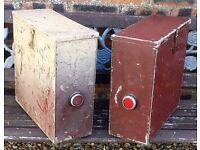 """Vintage"" Motorbike Aluminium Side Box Panniers"