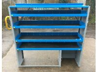 Van Racking / Shelving - 4 Shelves - Good Condition - Heavy Duty - Suitable For Medium To Big Van