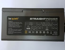 Be Quiet! Straight Power 550w Power Supply Unit (PSU) BQT E7-550W 80 Plus Gold