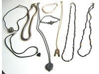 Necklaces x 7 and Bracelets x 2 £2 the lot