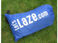 "QULAITY BRANDED ""LETSLAZE"" INFLATABLE AIR CHAIR/SOFA/BED"