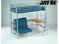 High Sleeper Bed Jay Be Studio 3 With Desk And Extra Futon