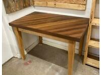 Dining table - iroko and maple