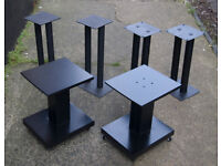 Three pairs of heavy-duty speakers stands.