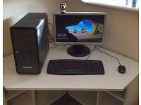 "Desktop PC with 1TB HDD, Intel i3 3.3Ghz CPU, 8GB Ram + 19"" Monitor + Accessories"