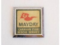 Car Badge - Caravan Club Rescue Service- Style 1. REDUCED IN PRICE.