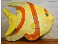 Large papier mache vintage fish mancave fun antique bathroom decor sea prop