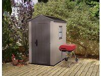 Keter Factor Resin/Plastic Outdoor Garden Storage Shed, 6 x 4 Feet, STILL IN BOX. *LOCAL DELIVERY*