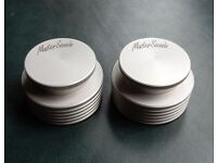 PAIR of MASTER SOUNDS Turntable Weights, DJ, Scratching, Hi-Fi, EXCELLENT CONDITION