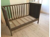 Two Ikea SUNDVIK cot beds in brown/grey - smoke and pet free home