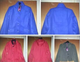 BRAND NEW. JACKETS. COATS. AND OTHER CLOTHES ALL SIZES