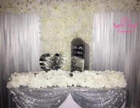 STARTING @ ONLY £150 HIGH QUALITY STARLIGHT BACKDROP/ DRAPING/ DRAPE/ FLOWER WALL HIRE
