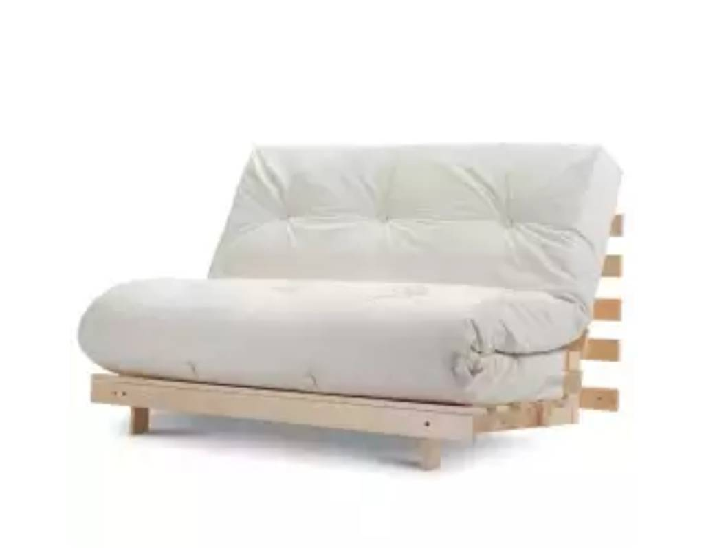Double cream futon/ sofa bedin Hindley Green, ManchesterGumtree - Double cream futon / sofa bed. In good condition Cover is washableVery heavy itemNeeds 2 to collect. Collection only