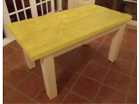 Rustic Solid Wood Plank Kitchen Dining Table - painted in various colours