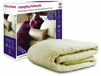 Morphy Richards heated Fleece mattress cover Kingsize
