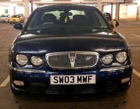 2003 03, Rover 75, 1.8 Petrol, 88000, MOT 19.07.2018