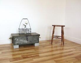 Vintage Pine Ammunition Box / Coffee Table / Storage Chest