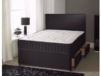 🌷💚🌷EXCELLENT QUALITY🌷💚🌷DIVAN BED DOUBLE/SINGLE/KING WITH MATCHING HEADBOARD & DRAWERS OPTION