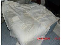 """Cream Gold Curtains, Pelmet, Tie Backs - 60""""w 86""""d"""
