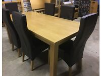Dining table and six leather chairs originally purchased from John Lewis