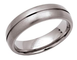 6mm-Grooved-Satin-Unisex-Titanium-Court-Band-Ring
