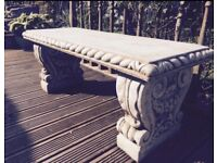 Nice concrete garden bench free delivery within Glasgow