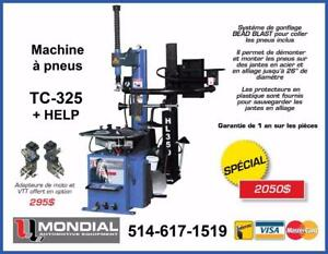 Machine a pneus TC-325 + HELP Demonte Pneu Machine a tire Balanceur de roue Machine a Balancer Tire changer Balancer