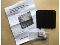 BRAND NEW JOHN LEWIS Black Metal Wall Mounted Flat Screen Flush Mounted LCD TV Bracket