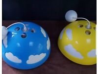 2 childrens room ceiling lamps
