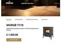 Morso Viking Wood Burning Stove / Fire Model 7110